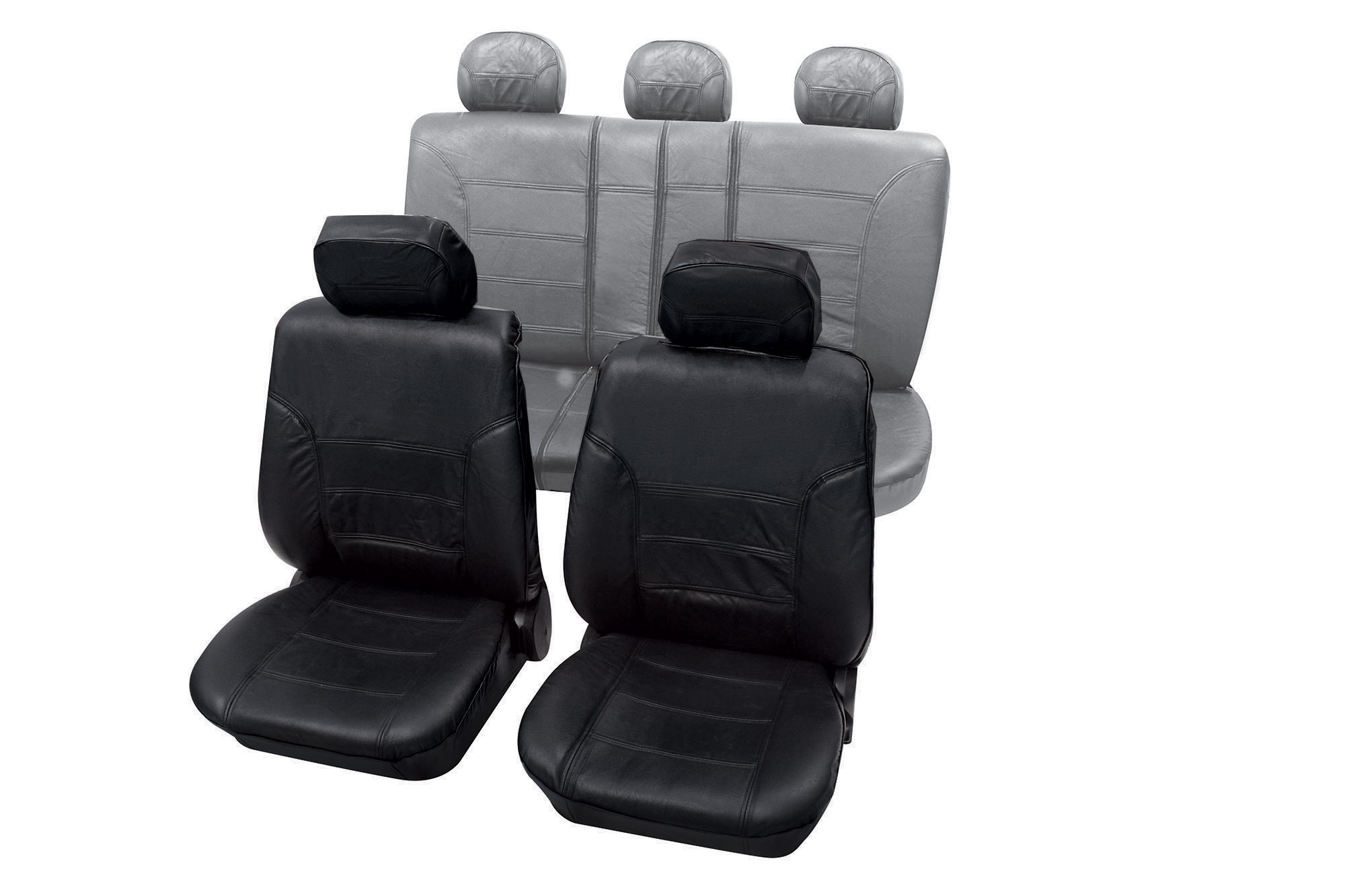 Lederen auto stoelhoezen set